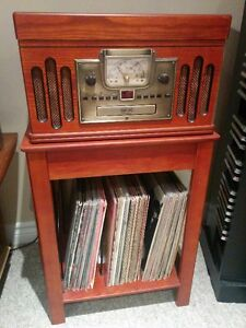 Crosley Record Player/AM/FM Radio/CD Player with Stand