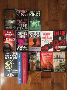 Books! $5 Each. Stephen King, Hunger Games, Divergent & More