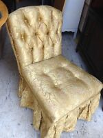 Gorgeous Floral Low Profile Vanity Bedroom Accent Chair