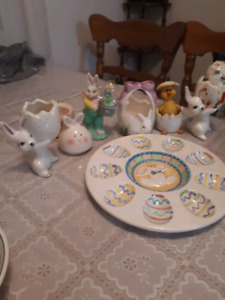 All 7 ceramic Easter decorations $10