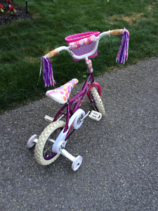 Girl's Bicycle with removable Training wheels