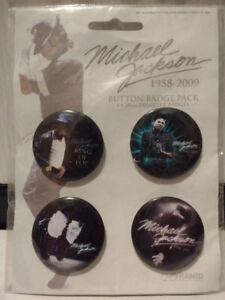 Michael Jackson 1958-2009 Button Badge Pack Set 4 Pins sealed