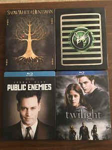 Collectable Steel Case Blu Rays.  Some not opened