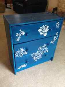 Painted 3 drawer IKEA bedside table!