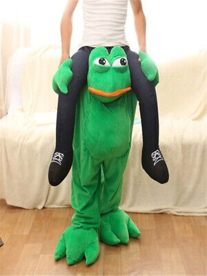 Adult Frog Costumes (Adults on frogs carrying party)
