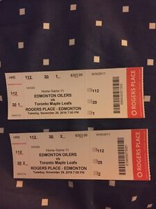 2 oilers tickets