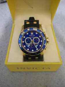 18k Gold Plated Invicta Pro Divers Watch