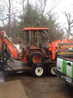 Backhoe and operator for hire valley wide free estimates