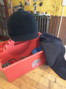 Riding Helmet and Grooming Kit