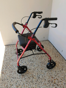 Like New - Wheelie Walker with Seat and Under Seat Storage