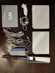 2x Wii Consoles (RVL-001) and Accessories