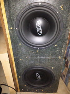 "12"" Subwoofer x 2 in ported box."