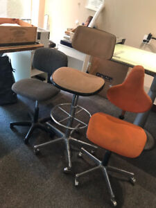 **VINTAGE DESK CHAIRS/STOOLS**