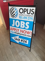 Great Prices on A-Frame and Roll-up Banners $120