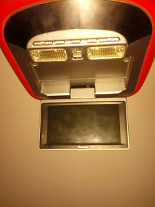 FLIPDOWN TV SCREEN FOR VEHICLE..PIONEER ..EASY INSTALL..CAN DELI