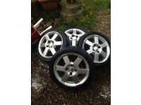 "FORD STREETKA 16"" ALLOY WHEELS & TYRES"