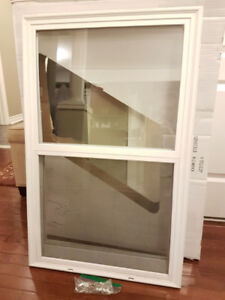 "22"" x 36"" Venting Glass Entry Door Insert (White)"