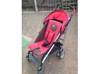 Red Chicco pushchair