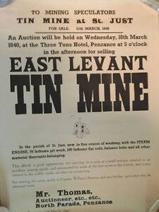 Reproduction mine sale poster for sale (A016)