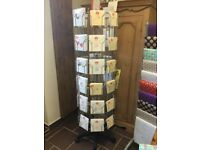 Westminster wire freestanding card stand with cards