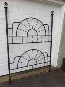 HOME MADE GARDEN TRELLIS, STEEL PAINTED BLACK 6 FEET TALL, 4 FEE