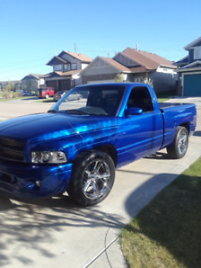 97 dodge ram classic redone paint tires mags exhaust