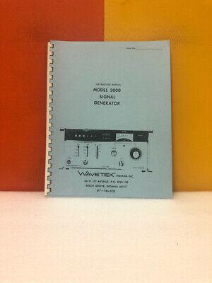Wavetek Model 3000 Signal Generator Instruction Manual