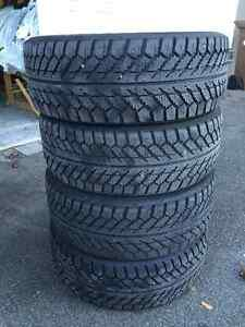 Winter tires for sale, rims already on 300$!!! West Island Greater Montréal image 1