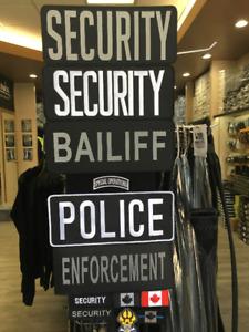 """Large Velcro """"Security"""" Patch Guard Uniform"""