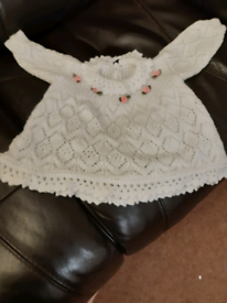 Hand Knitted Baby Dress (New)