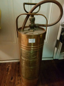 Rare Antique Fire Extinguisher Copper and Brass