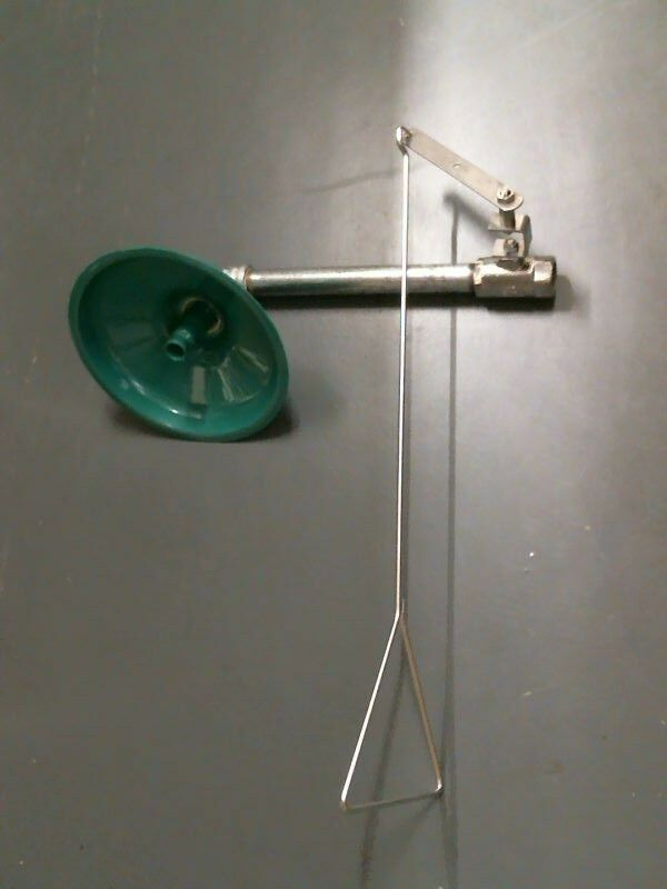 Haws Drench Shower, Horizontal with Plated Brass Valve and Pull handle, Unused