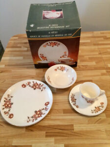 16 Pc Ironstone Dinnerware Set – Brand New in Box!!