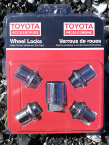 NEUF! Toyota verrous de roues - NEW! Genuine wheel locks