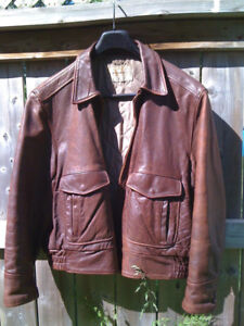 Mens vintage steerhide jacket