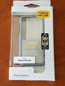 iPhone 5/5s/SE OtterBox Symmetry Series Clear Case Grey Crystal