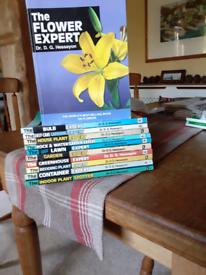 Various Garden books by Dr D.G. Hessayon