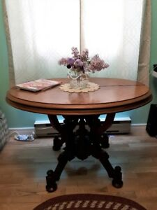 Burled top,Walnut Occasional Table
