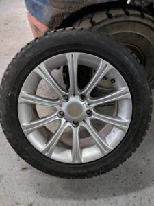 Mags bmw et pneus d'hiver 205 55 R16 5 x 120