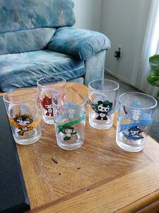 Complete Set of 5 2008 Beijing Olympics Collectible Glasses