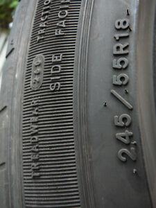 4 pneus Good Year 245/55 R18 pour l'été West Island Greater Montréal image 5