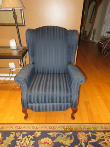 Used Wing Chairs (two) recliners with stool