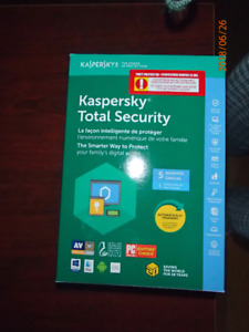 New Kaspersky Total Security  1 year license for up to 5 devices