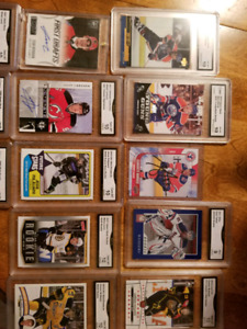 Rookies and autographed hockey cards graded