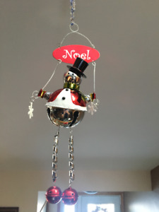 Hanging Christmas Snowman Decoration - Noel
