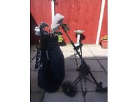 Wilson Staff golf clubs plus balls and tees