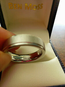 Mens comfort fit Vitalium Wedding band Windsor Region Ontario image 4