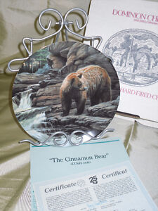 SALE $10 pair  The Cinnamon Bear and Pronghorn collector plates