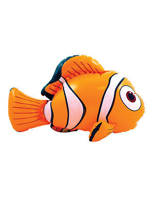 Inflatable Clown Fish Sea Fancy Dress Toy Inflate Orange Nemo 45cm Novelty - Inflatable Clown Fish