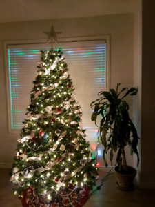 7.5 foot Lighted Christmas Tree for sale